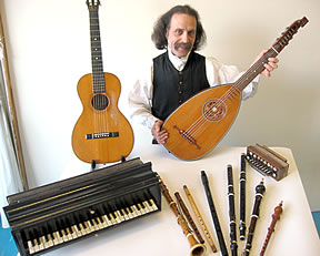 Walter Buckingham Musician plays a variety of historical musical instruments for schools and educational institutions.